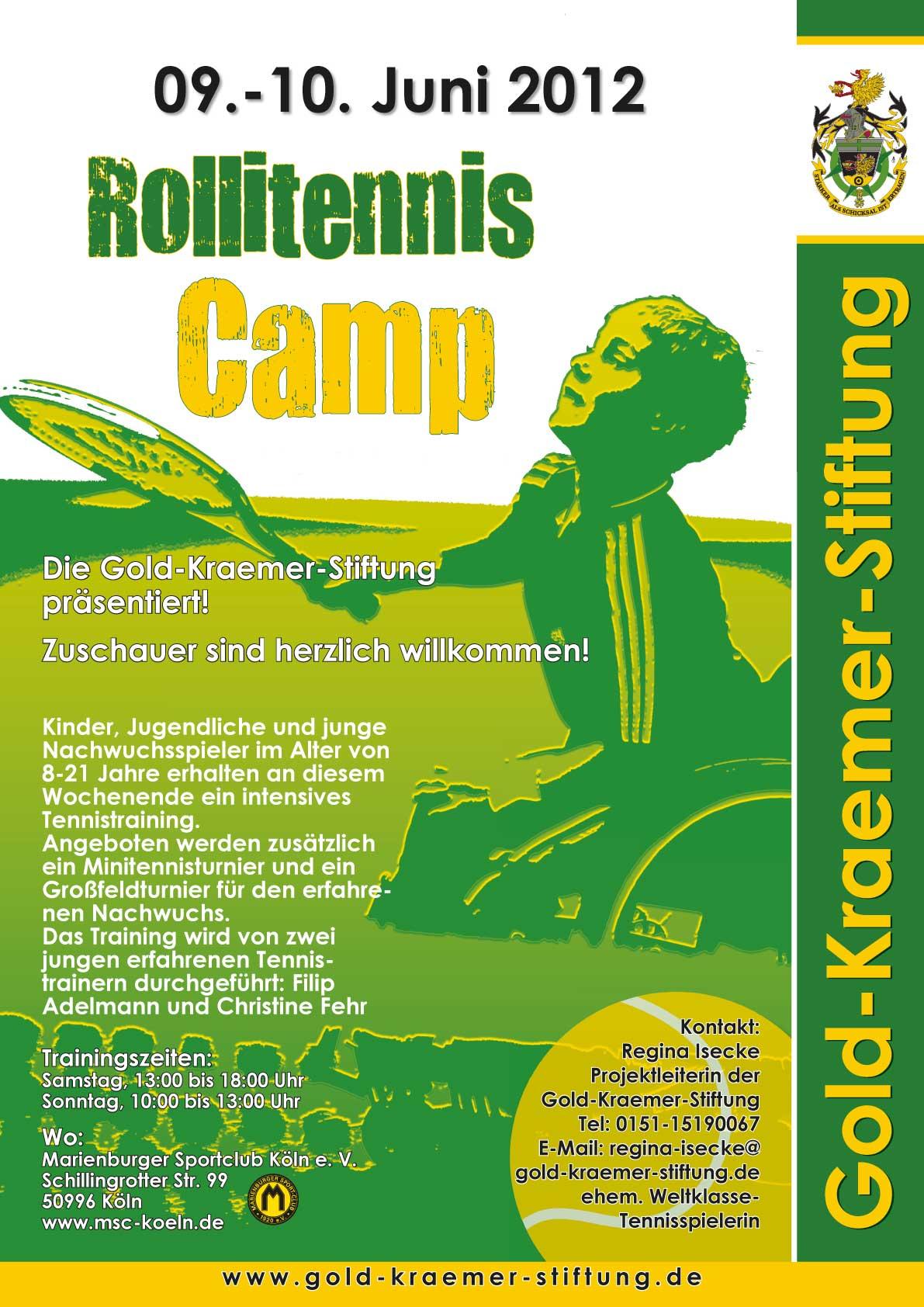 RolliTennisCamp Plakat