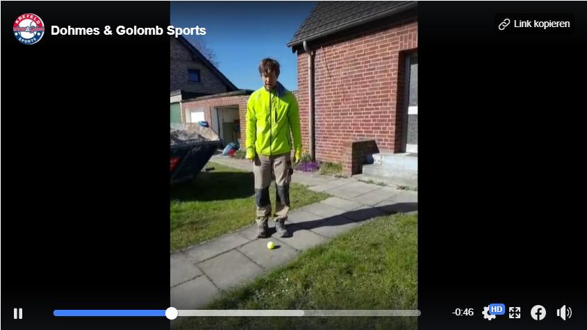 """""""Beinarbeit & Schnelligkeit"""" mit einem Tennisball"""